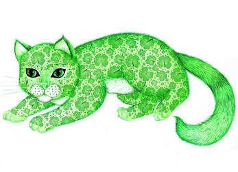 The Lucky Kitty by BLACKBOMBERWOMAN