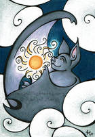 The Bat Who Stole the Sun by rachelillustrates