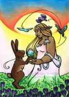 Commission - Blessed Ostara by rachelillustrates