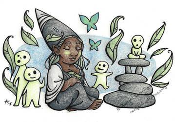 Sunday Gnomedays 9-2-18 by rachelillustrates