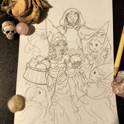 Sabbat Sketches - Samhain (Persephone) by rachelillustrates