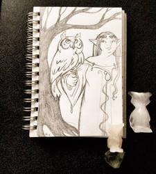 dElfcember day 8, Owl by rachelillustrates