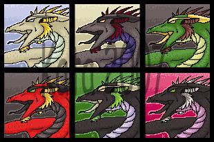 Dragon Portrait2 - Sold by Kata-Ports