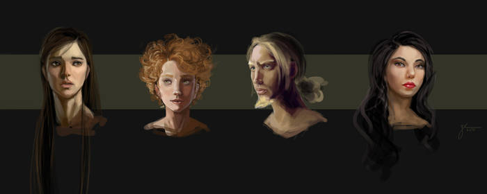 Portraits  Main Characters by JRoessler