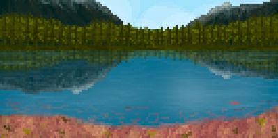 Pixel landscape by Vriskim