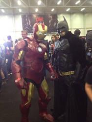 Me posing with batman at Dublin Comic Con 2014 by jonny3777