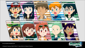 PKMN V - Group All-Out Attack Wallpaper by Blue90
