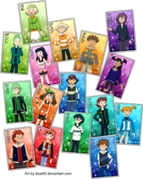 PKMN V - Character Card Art by Blue90