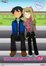 PKMN V - Ash and Serena - Valentine's Day 2014 by Blue90