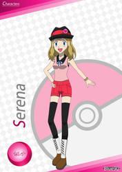 PKMN V - Serena A4 Artwork (VER. 3.5) by Blue90
