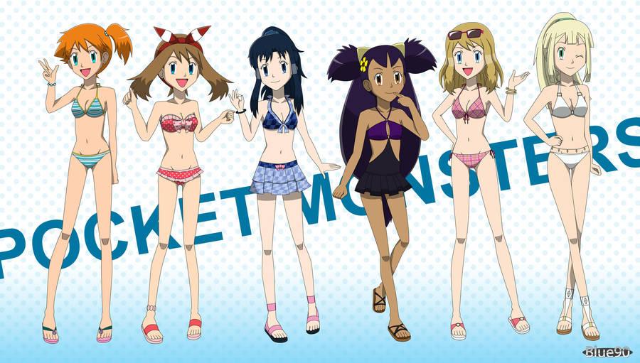 28d2a31425 PKMN V (V 4) Swimsuit Girls by Blue90 on DeviantArt