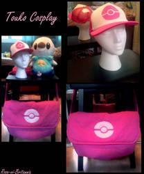Touko Cosplay Hat and Bag by Rose-vi-Britannia