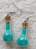 Blue Fairy Dust Earrings by ElkStarRanchArtwork