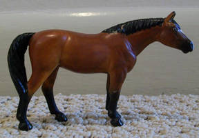 Bay Quarter Horse Mare Custom by ElkStarRanchArtwork