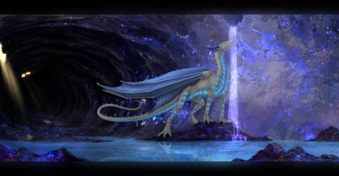 Caverns of Sapphire by Enigmatic-Ki