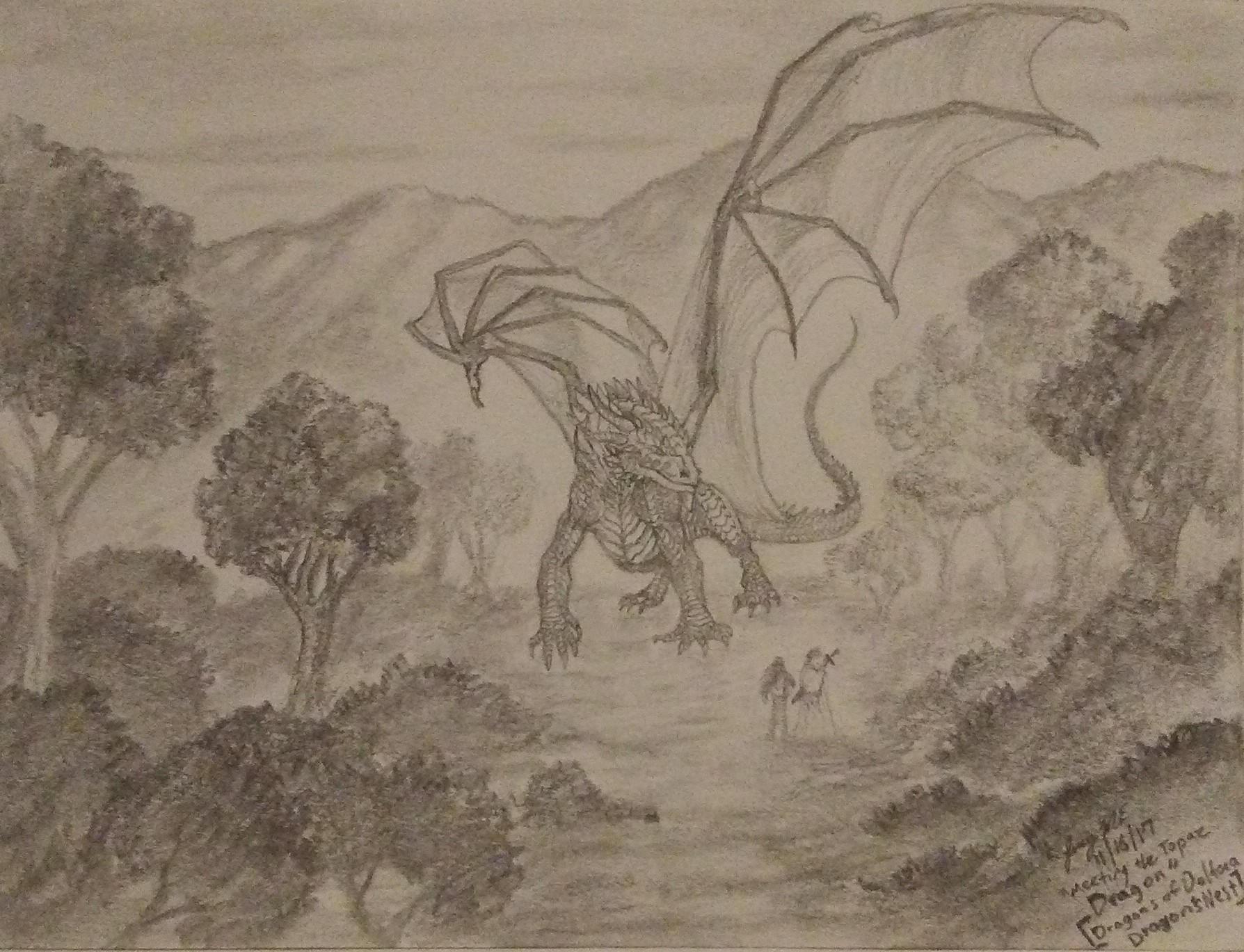 Meeting The Topaz Dragon by Enigmatic-Ki