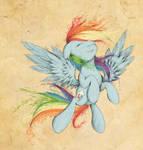 I'm the rainbow, I'm the sky by Agletka
