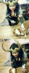 Dog 1 - Loki 0 by strikes-twice