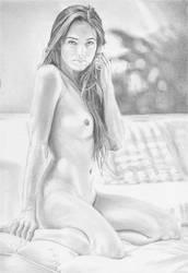 Kneeling nude by stevie-wydder