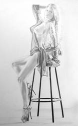 On the stool 2 by stevie-wydder