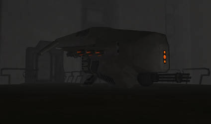 XK-35 'Narwhal' Gunship by IfritianIndustries