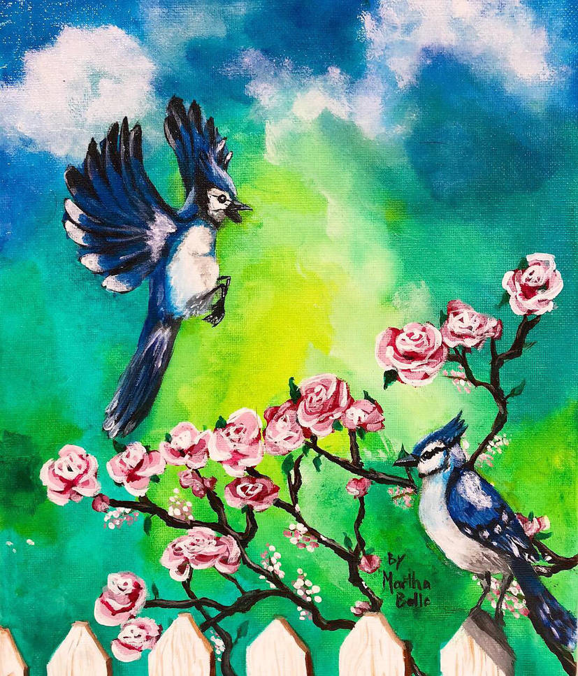 Blue Jay Bird Painting  by itsmarthabelle