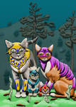 Fantasy Shelter Animals: Warriors by KarenRoop