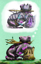 Imagination Frog Lancer by KarenRoop