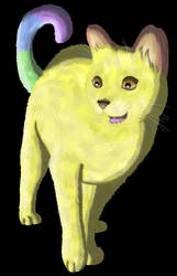 Hinka the Rainbow Cat by KarenRoop