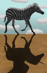 Winged Unicorn Shadow by KarenRoop