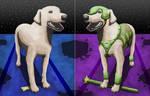 Armored Dog Split by KarenRoop