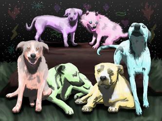 Elemental Dogs by KarenRoop