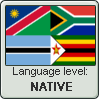 Language stamp - Tswana - NATIVE by Sasza-Ola