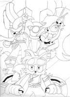 Gurren Lagann Sonic Tribute by bhsdesk