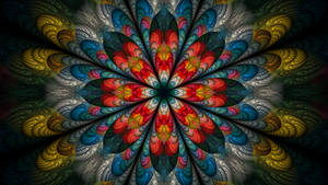Psychedelic Plume Flower by metafrost