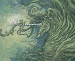 Mini - Green Unicorn by thedancingemu