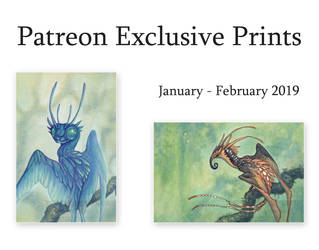 Patreon Exclusive Prints: January - February 2019 by thedancingemu