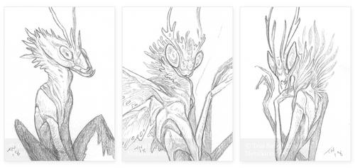 Sketch Cards Jan 2019 2 by thedancingemu