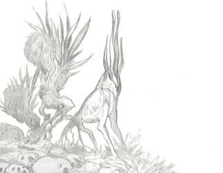 Alien critter sketch by thedancingemu