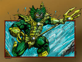 Kevin Sharpe's Mer-Man colored by shubcthulhu