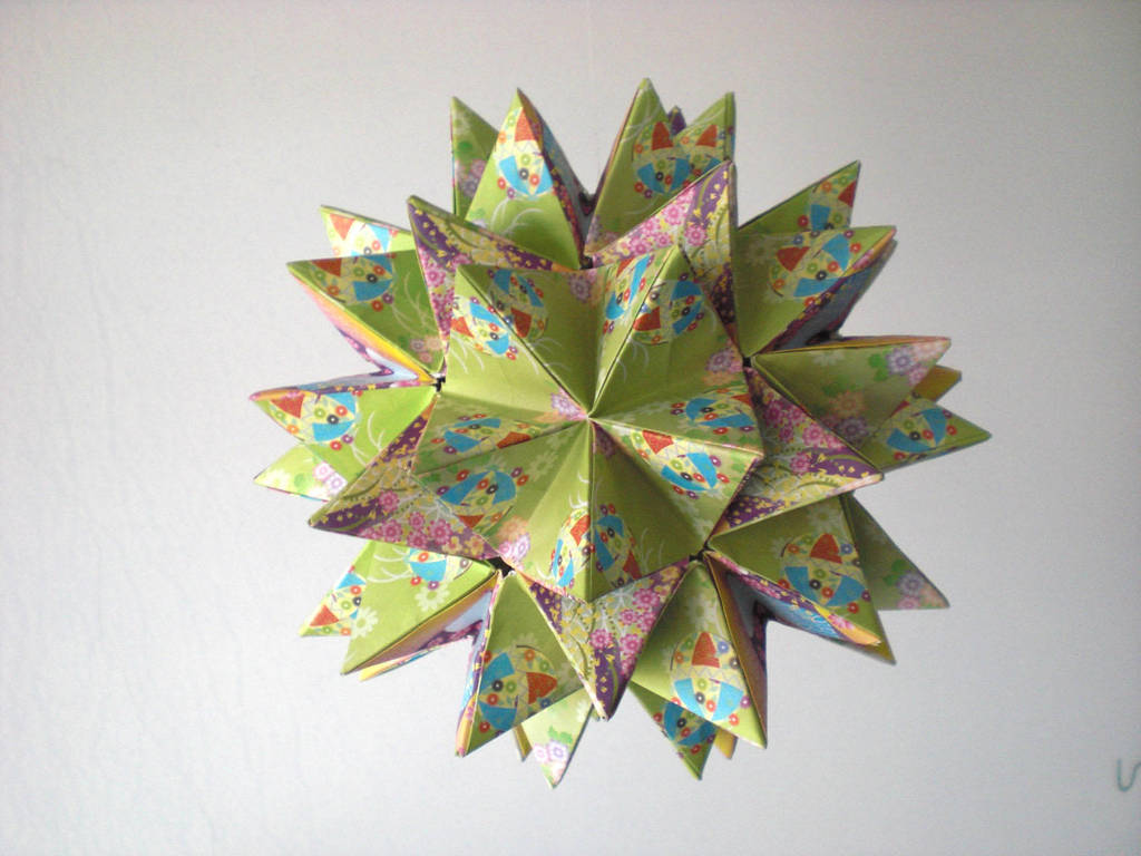 Origami Kusudama Revealed Flower 2 By Andy Chanwanttodraw On
