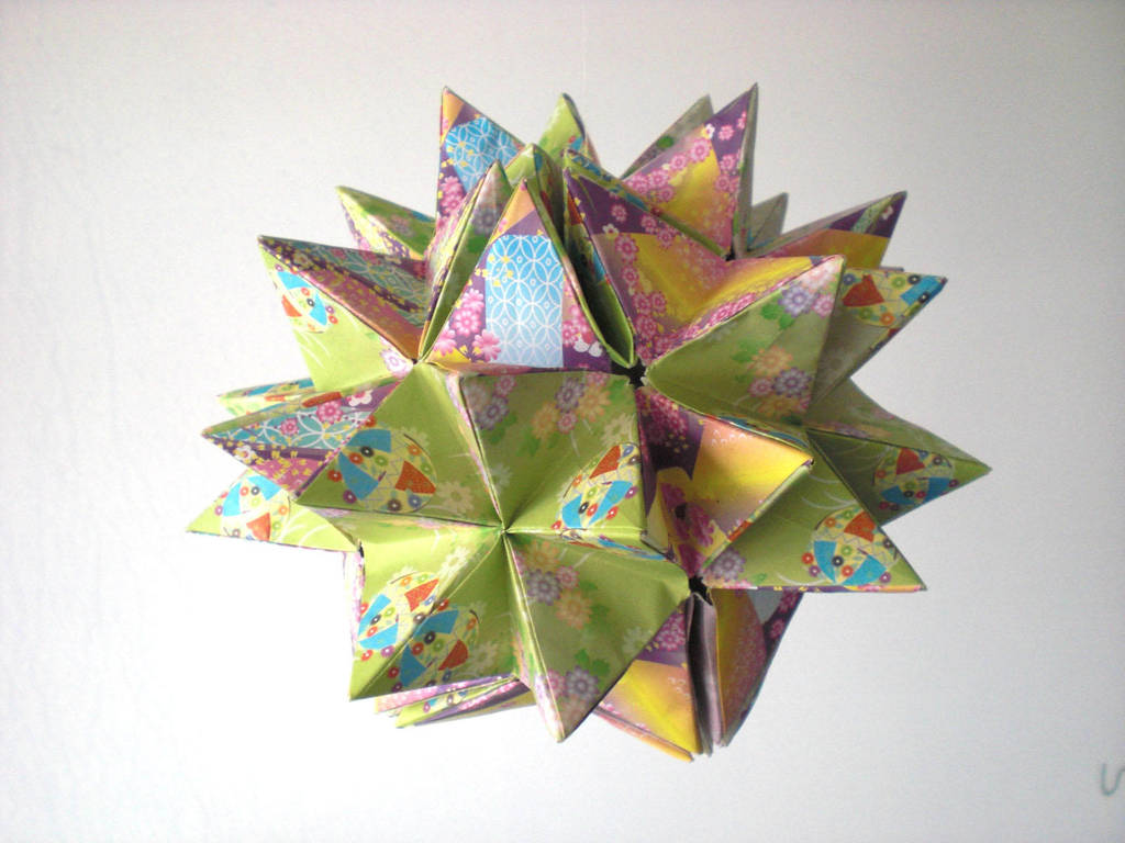 Origami Kusudama Revealed Flower Openclose By Andy