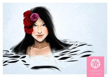 Water and Roses by Yayumi-ChAn