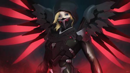 Overwatch - Blackwatch Mercy by AnimatedAnarchist