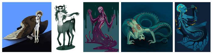 Monster Girl Challenge #1 by Sanate