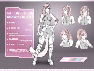 Maia Brightstar: Reference sheet [2017] by AntaresIceslayer