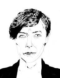 David Bowie by rnrdrawsetc