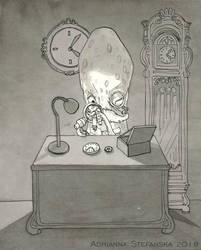 Inktober 2018 - day 14 (Clock) by AdrStefanska