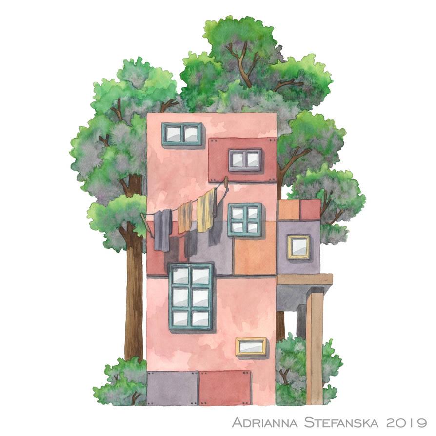 Whimsical house (5) by AdrStefanska