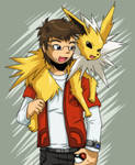 Speed Draw: Me and Jolteon (video included) by Trakker